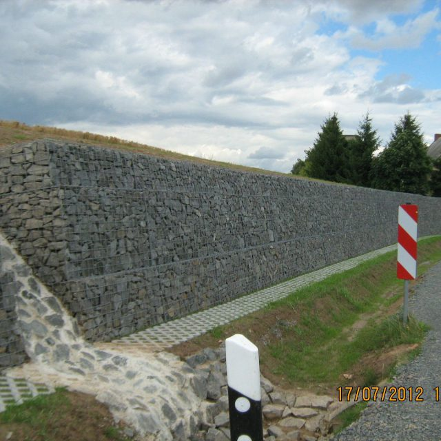 Gabionenstützwand Theusdorf