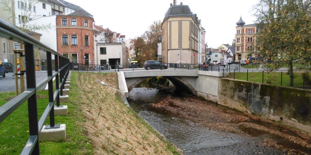 Brücke Poststraße in Werdau // März 2016 – August 2017