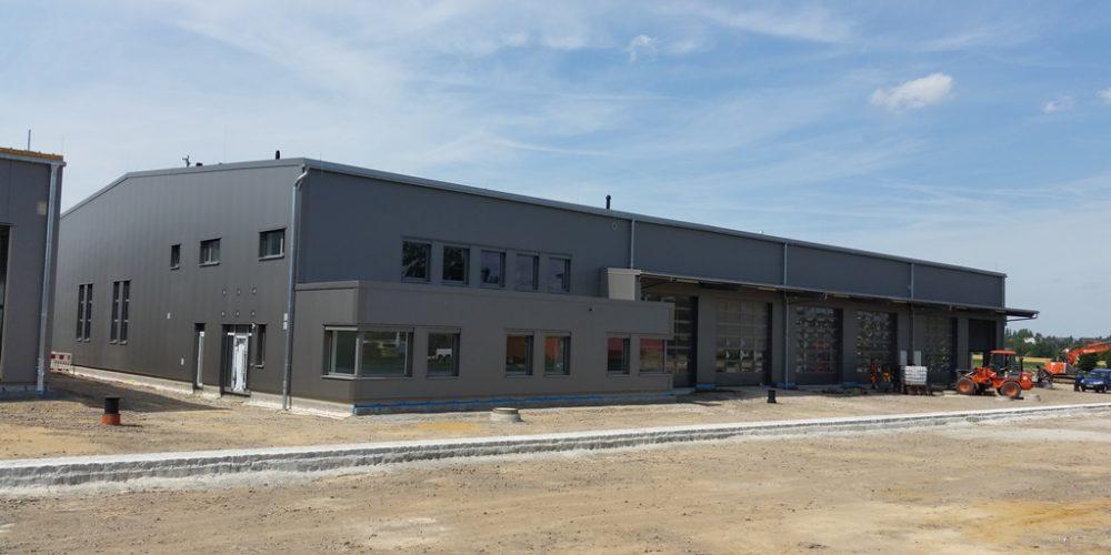 Neubau Busbetriebshof in Burgstädt // 28.07. 2016 –02.06.2017