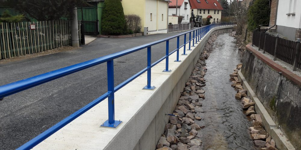 Ersatzneubau Stützwand Burgstädt // April 2016 –März 2017