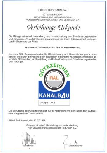 Zertifikat_Gueteschutz Kanalbau
